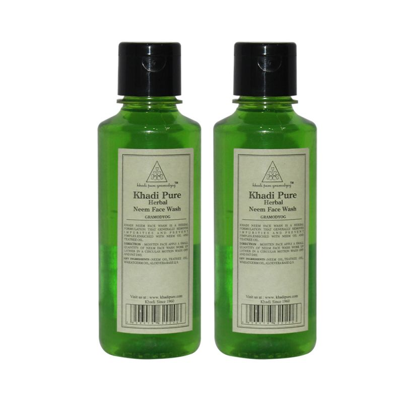 Buy Khadi Pure Herbal Neem Face Wash - 210ml (set Of 2) online