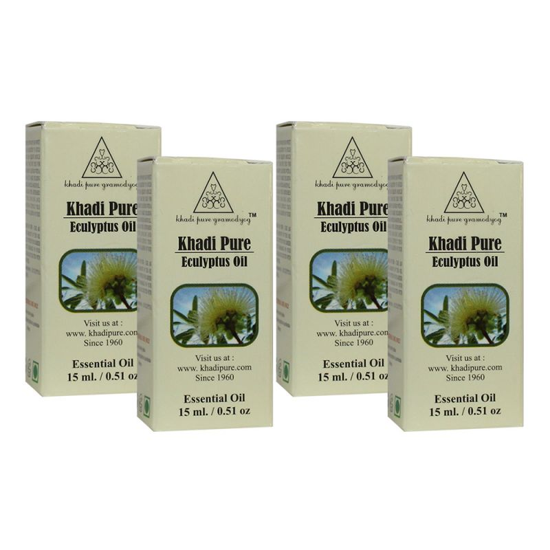 Buy Khadi Pure Herbal Eucalyptus Essential Oil - 15ml (set Of 4) online
