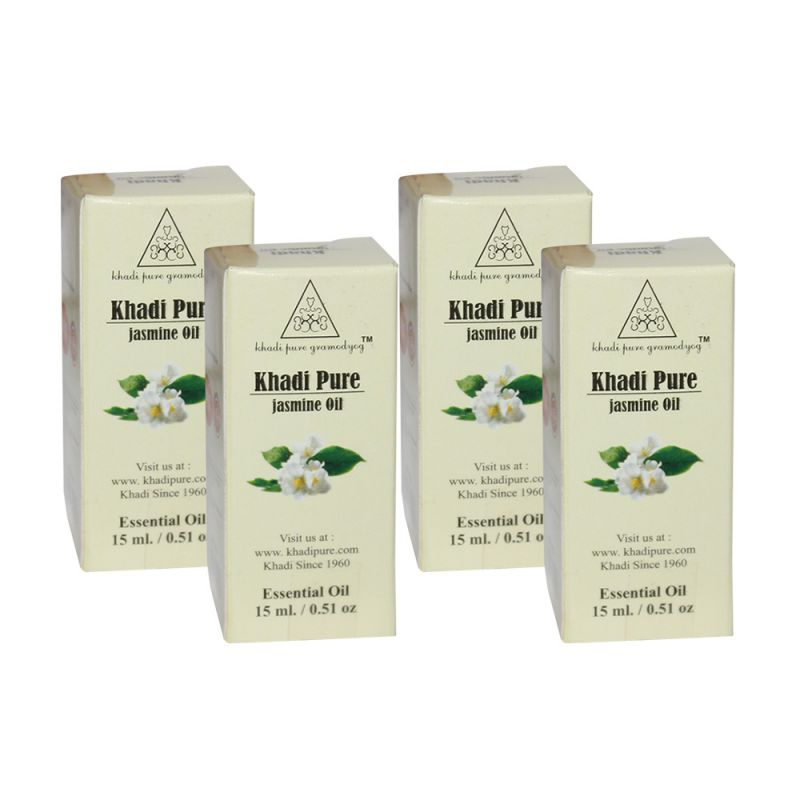 Buy Khadi Pure Herbal Jasmine Essential Oil - 15ml (set Of 4) online