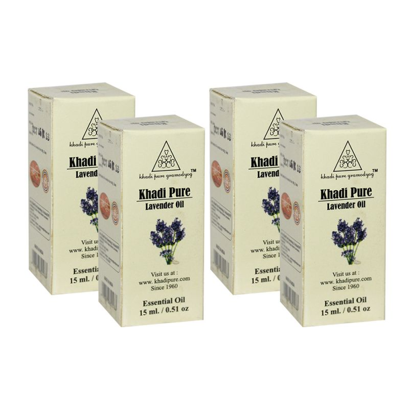 Buy Khadi Pure Herbal Lavender Essential Oil - 15ml (set Of 4) online