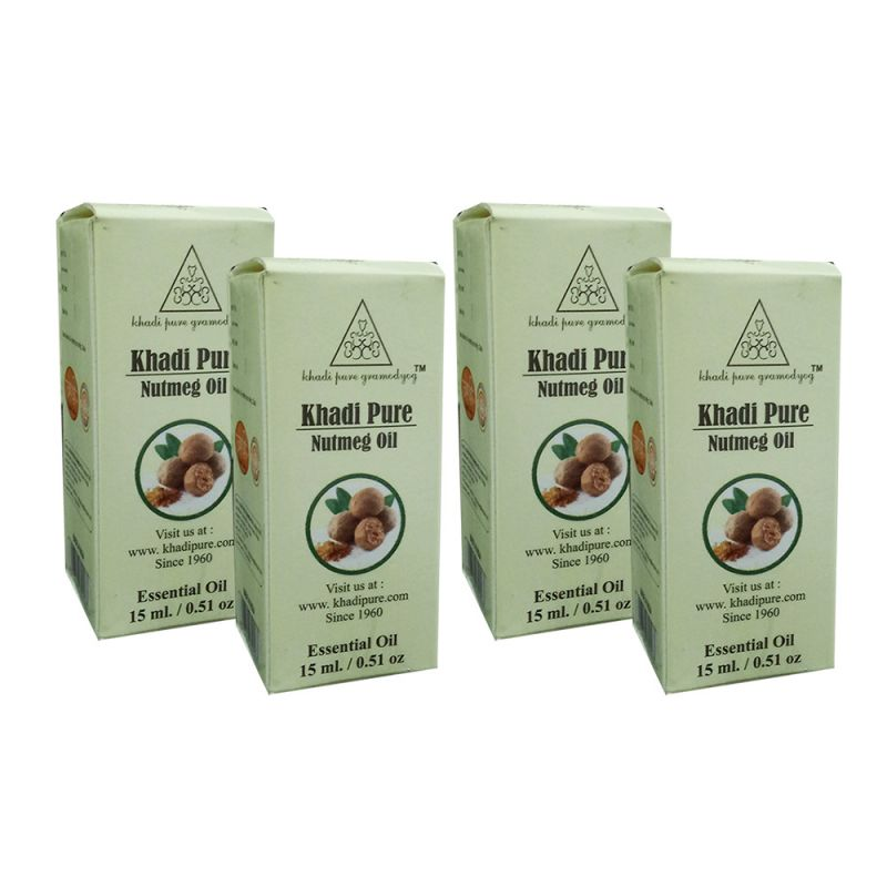 Buy Khadi Pure Herbal Nutmeg Essential Oil - 15ml (set Of 4) online
