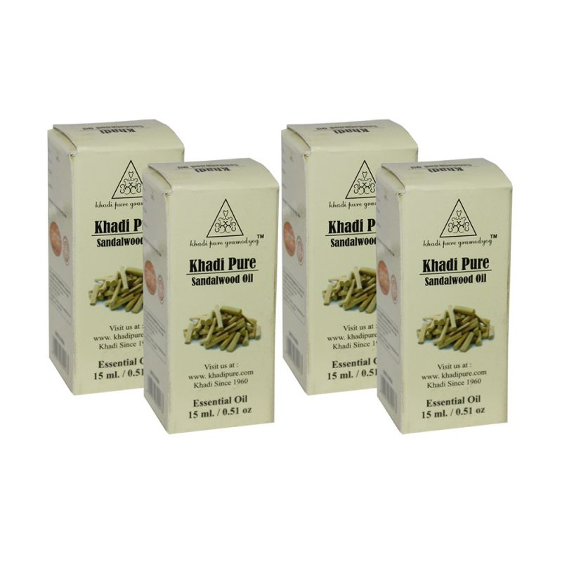 Buy Khadi Pure Herbal Sandalwood Essential Oil - 15ml (set Of 4) online
