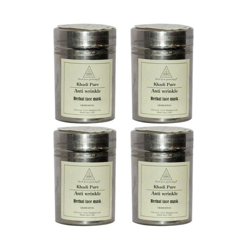 Buy Khadi Pure Herbal Anti Wrinkle Face Mask - 50g (set Of 4) online