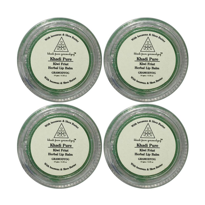 Buy Khadi Pure Herbal Kiwi Lip Balm - 10g (set Of 4) online