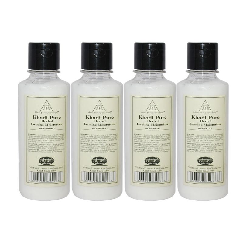 Buy Khadi Pure Herbal Jasmine Moisturizer - 210ml (set Of 4) online