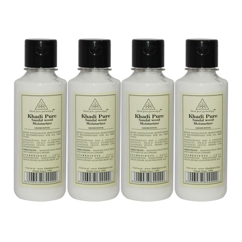 Buy Khadi Pure Herbal Sandalwood Moisturizer - 210ml (set Of 4) online