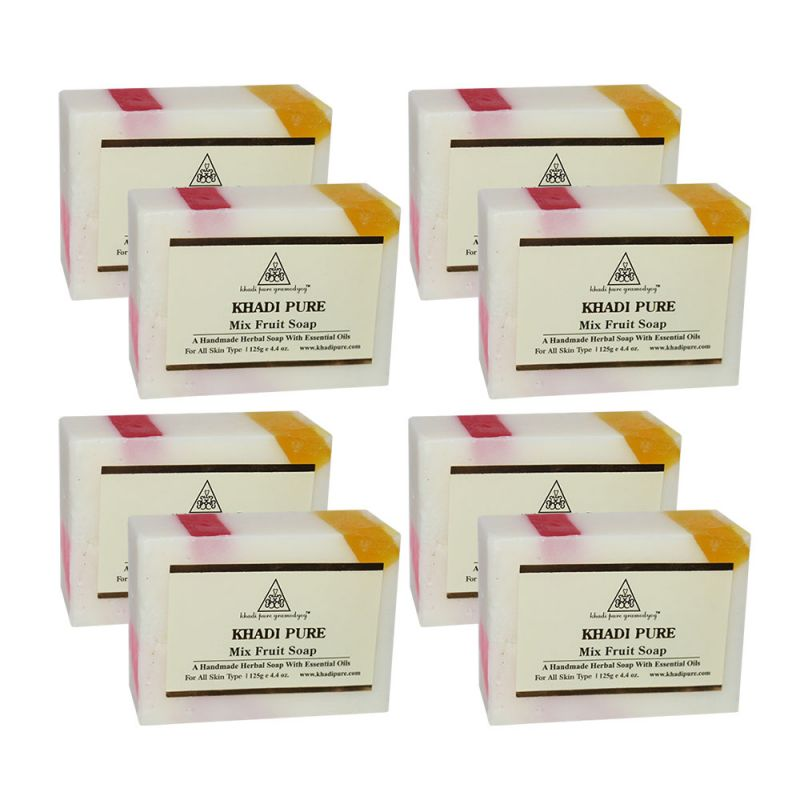 Buy Khadi Pure Herbal Mix Fruit Soap - 125g (set Of 8) online