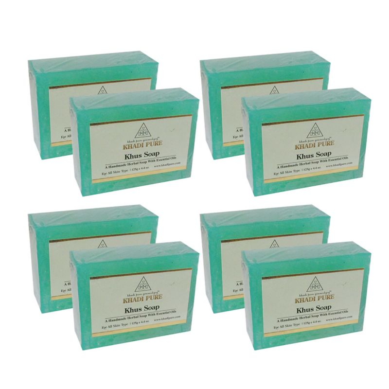 Buy Khadi Pure Herbal Khus Soap - 125g (set Of 8) online