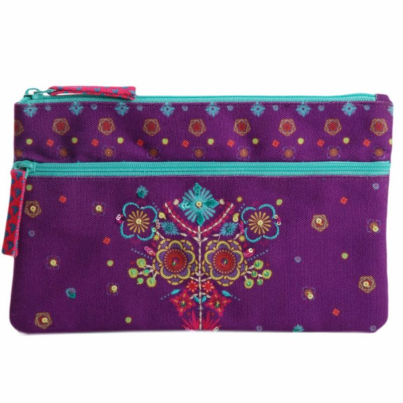 Buy Pinaken Funky Town Embroidered & Embellished Two Zipper Pouch online