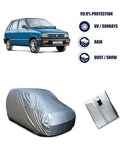 Buy Autowhee Bright Silver Matte Car Body Cover For Maruti 800 online