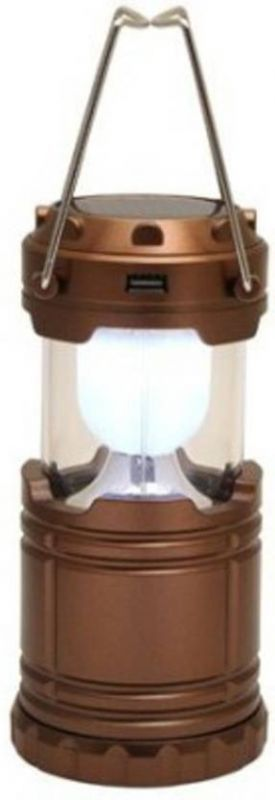 Buy Balasons Solar 6 LED Rechargeable LED Camping Lantern Emergency Cell Phone Charger Brightest And Unique Lantern (assorted Color) online