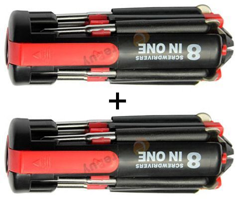 Buy 8 In 1 Toolkit Screwdriver LED Torch Toolkit online