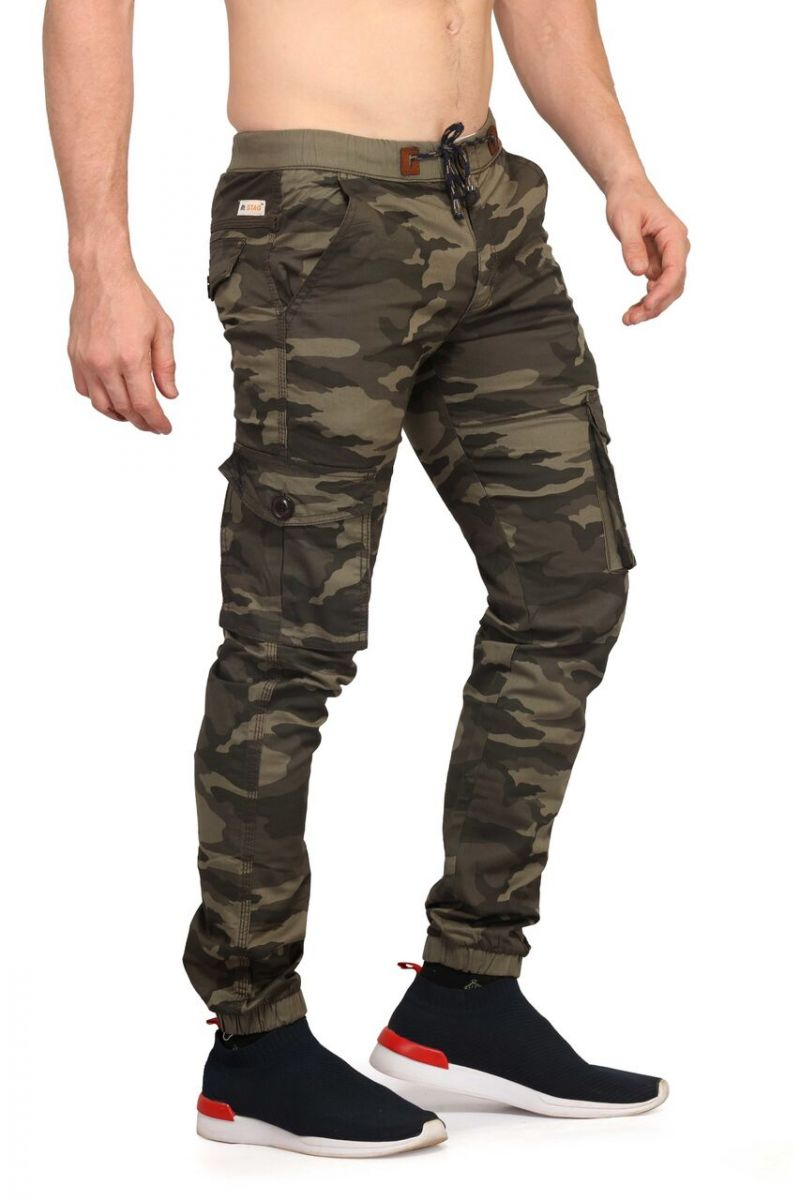 Buy Mr. Stag Men's Cocoa Brown Camouflage Joggers (code - Joggers_m001) online