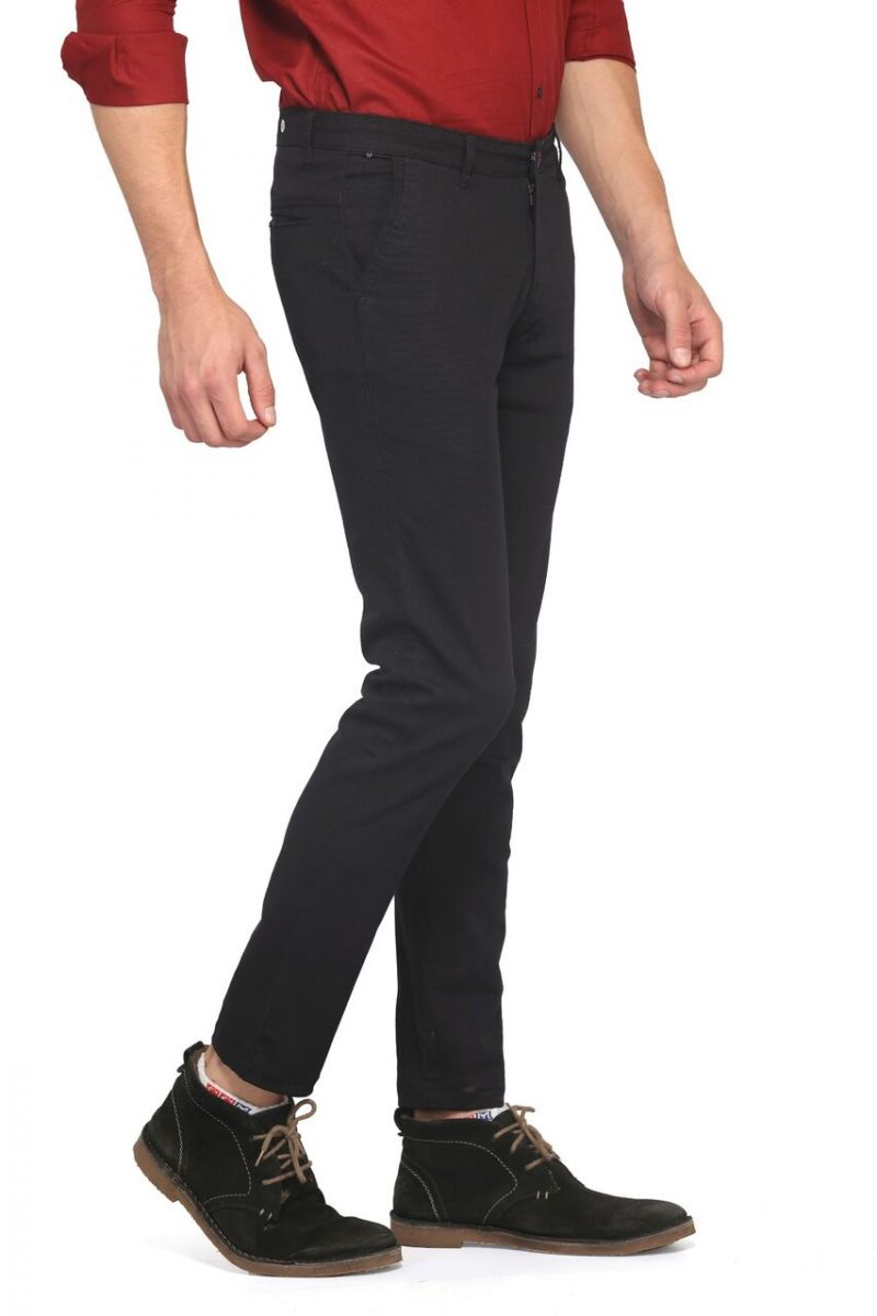 Buy Mr. Stag Men's Cotton Navy Blue Casual Trouser (code - Trouser Ng004) online
