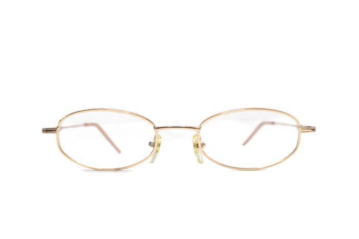 Buy Affable Oval Golden Full-rim Spectacle Frame online