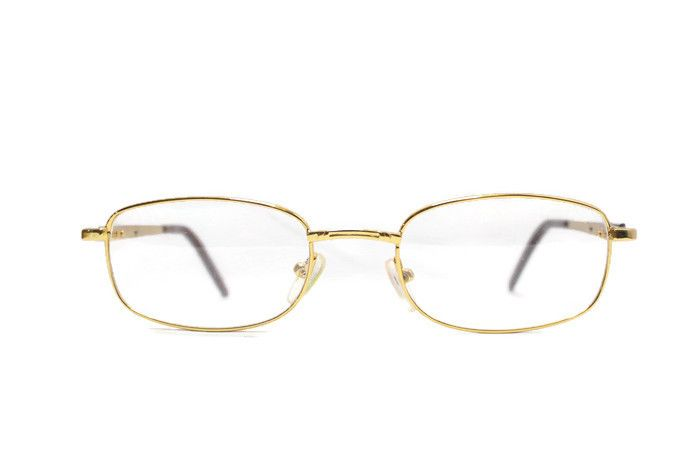 Buy Affable Rectangle Golden Full-rim Spectacle Frame online