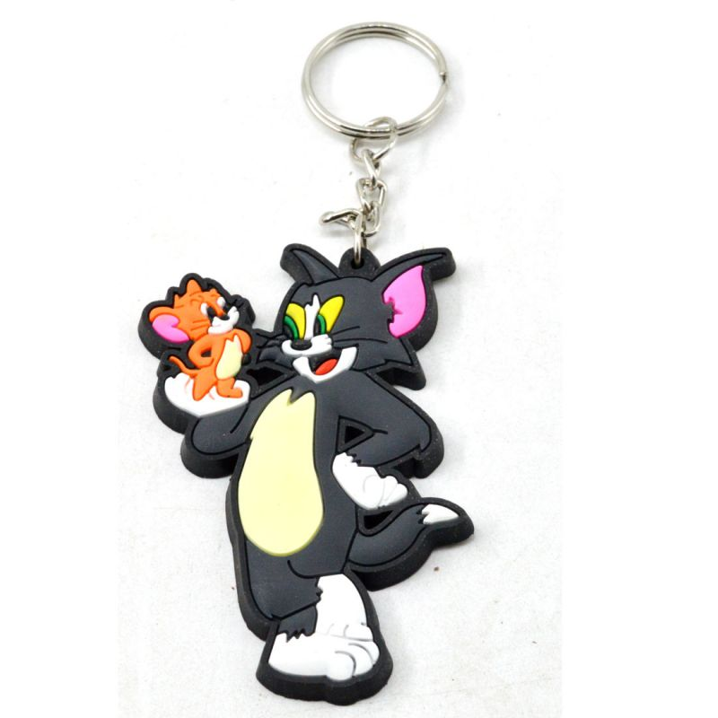 Faynci Tom And Jerry Cat Mouse Animal Cartoon Movie Character Rubber  Keychain For Cartoon Lover