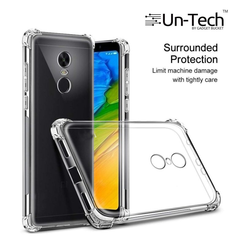 Buy Un-tech Redmi_5 Transparent Mobile Back Cover Case With Tpu Corner Protection Phone Cases online