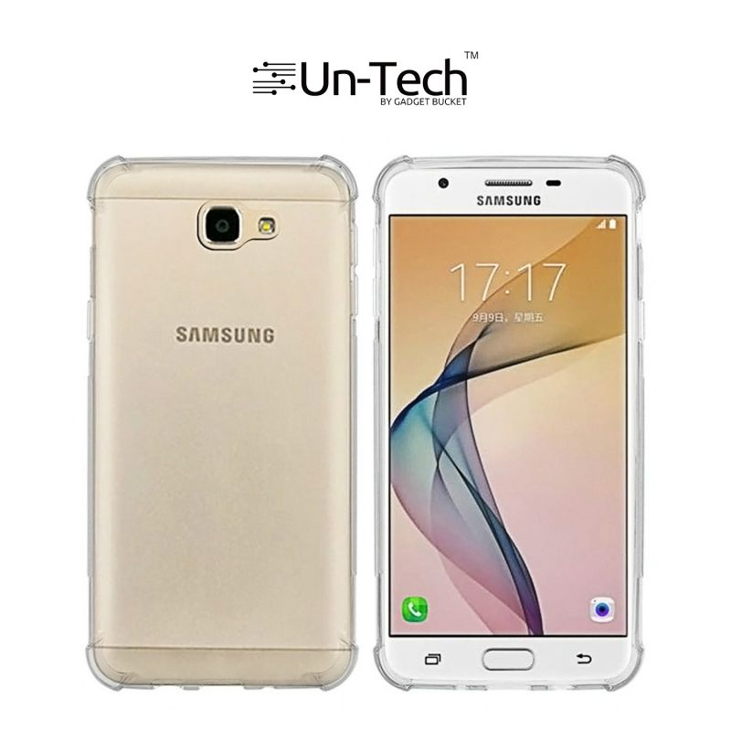 size 40 77ef3 b7bfc Un-tech Samsung On 7 Pro Transparent Mobile Phone Back Cover Case With Tpu  Corner Protection Phone Cover