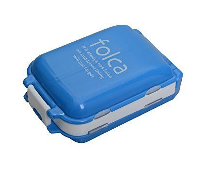 Buy Gadgetbucket Folca Plastic Jewellery Box For Pills,blue/white online