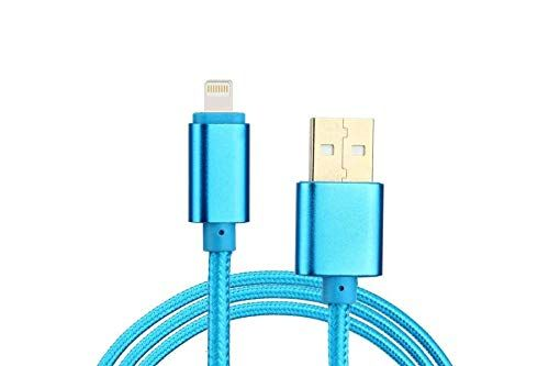 Buy Untech Canvas Fabric Data Cable Blue For Apple online