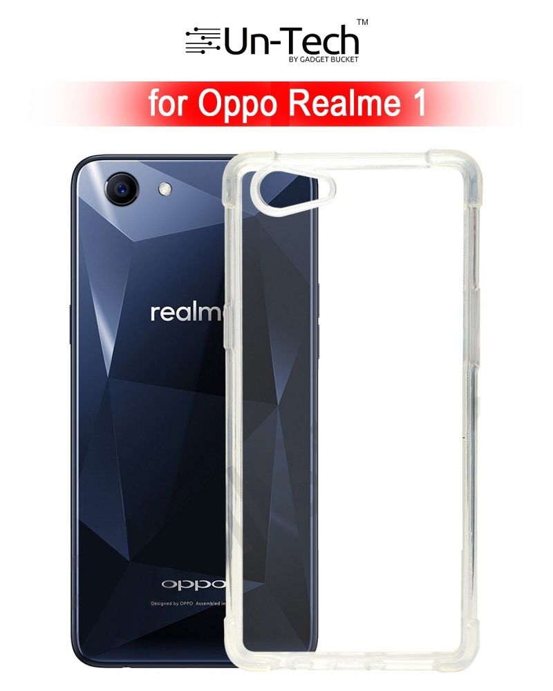 huge discount 0656b 2977b Un-tech Oppo Realme 1 Transparent Mobile Back Cover Case With Tpu Corner  Protection Phone Cases