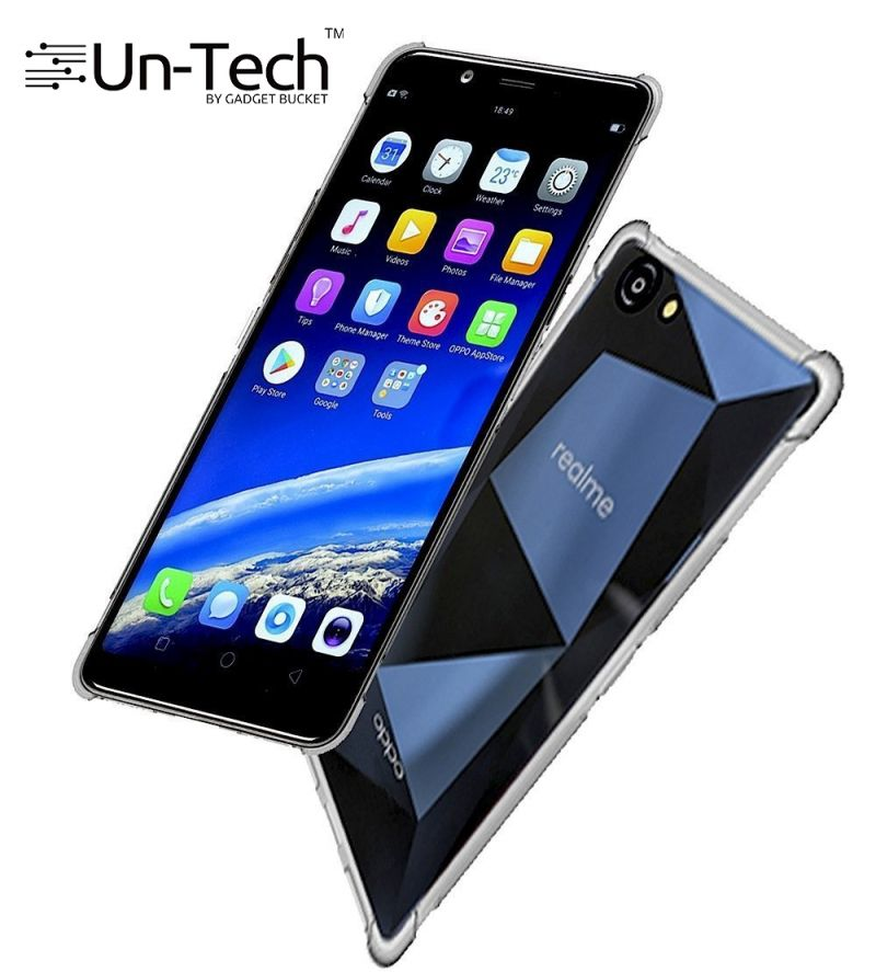 e9f9913d1 Buy Un-tech Oppo Realme 1 Transparent Mobile Back Cover Case With Tpu  Corner Protection Phone Cases Online