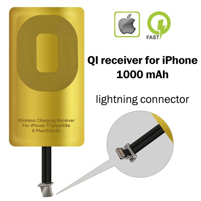 Buy Untech Wireless Charging Receiver For Apple iPhone 5-5c- Se- 6-6 Plus- 7-7 Plus- iPhone online