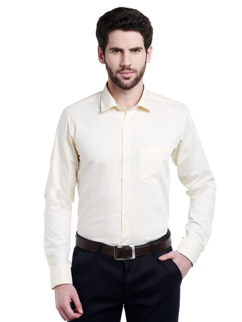Buy Lisova Lemon Solid Slim Fit Formal Shirt online
