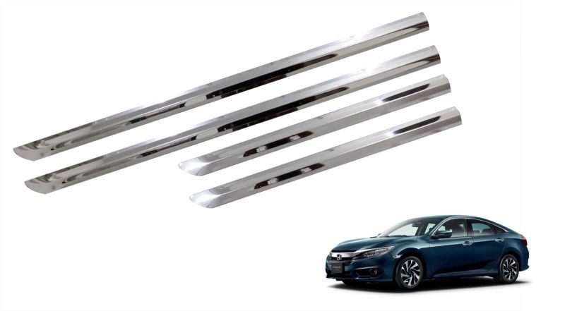 Buy Trigcars Honda Civic Old Car Steel Chrome Side Beading online
