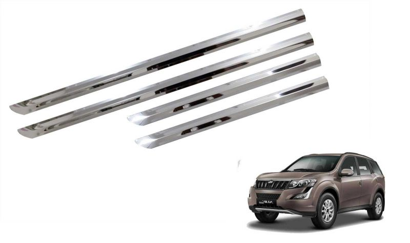 Buy Trigcars Mahindra Xuv 500 New Car Stee;l Chrome Side Beading online