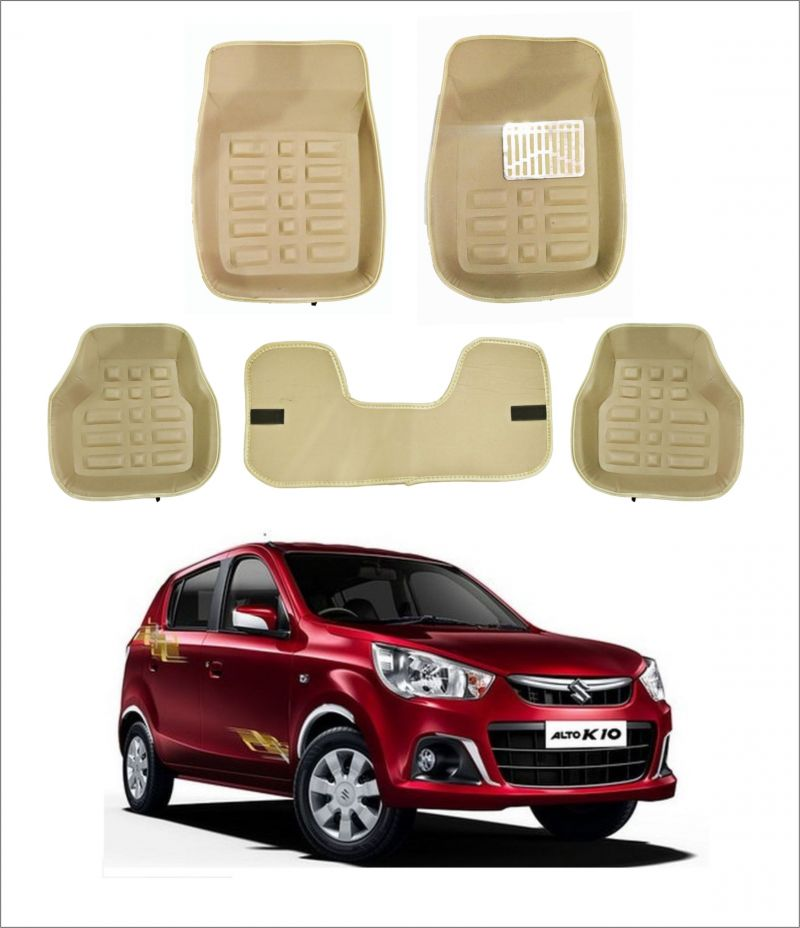 Buy Trigcars Car Carpet Cream Car Floor/foot Mats For Maruti Suzuki Alto K10 New online