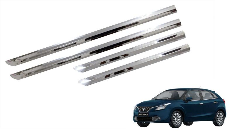 Buy Trigcars Maruti Suzuki Baleno Car Steel Chrome Side Beading online