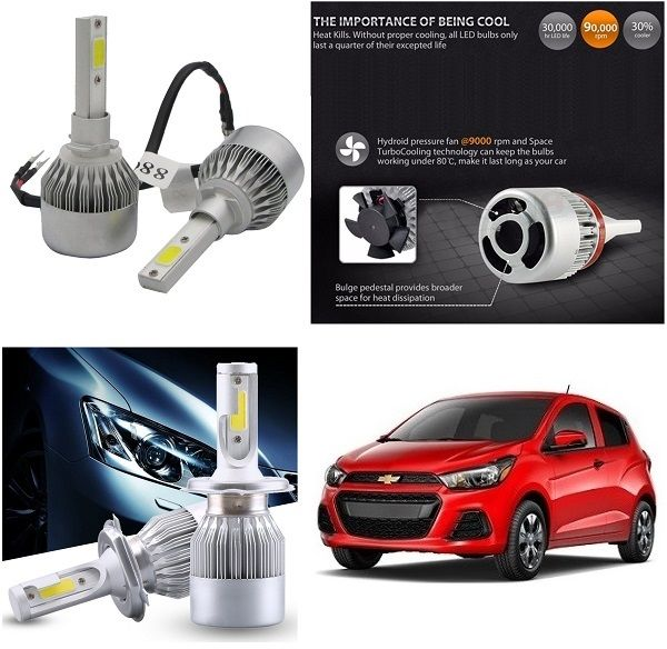 Buy Trigcars Chevrolet Spark Car LED Hid Head Light online