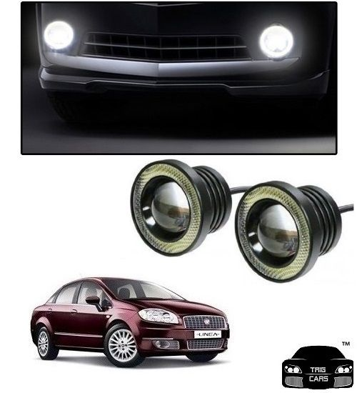 Buy Trigcars Fiat Linea Car High Power Fog Light With Angel Eye online