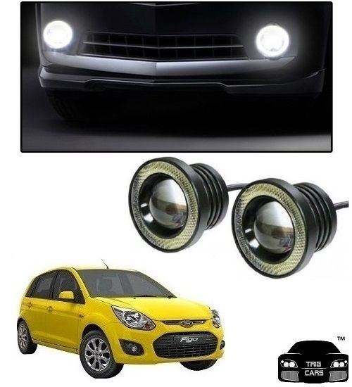 Buy Trigcars Ford Figo Old Car High Power Fog Light With Angel Eye online