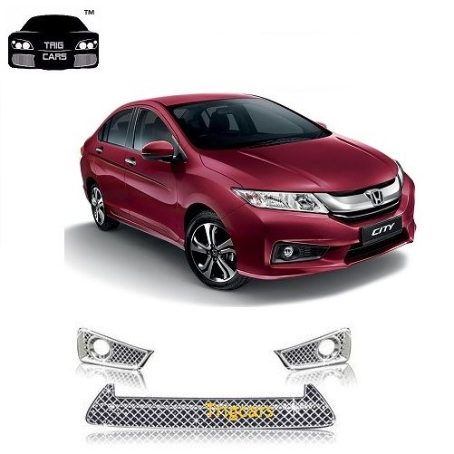 Buy Trigcars Honda City New Car Front Grill Chrome Plated online