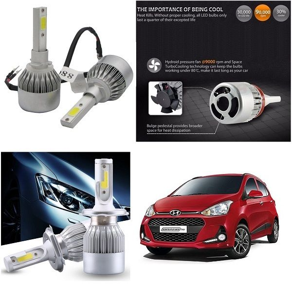 Buy Trigcars Hyundai I10 Grand New Car LED Hid Head Light online