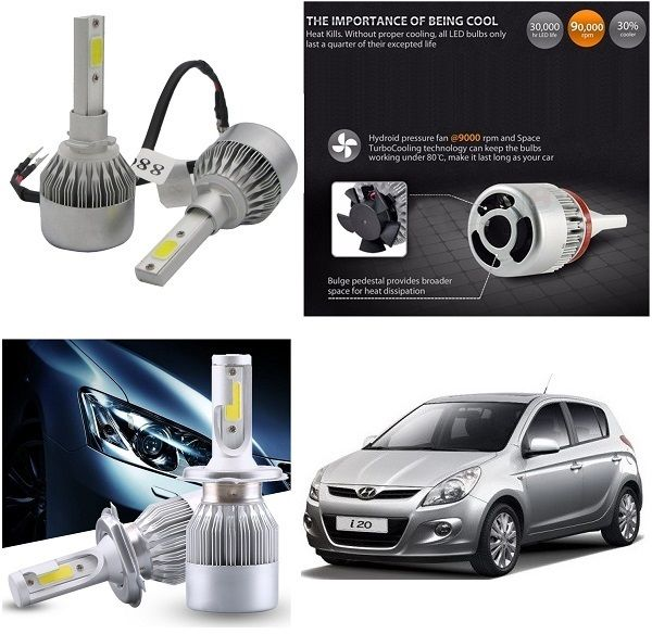 Buy Trigcars Hyundai I20 Old Car LED Hid Head Light online
