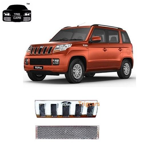 Buy Trigcars Mahindra Tuv 300 Car Front Grill Chrome Plated online