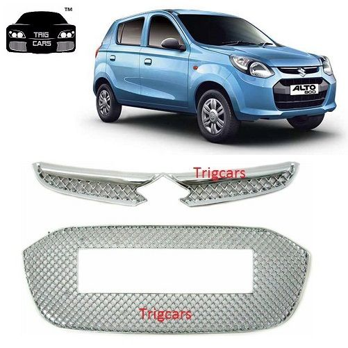 Buy Trigcars Maruti Suzuki Alto 800 Car Front Grill Chrome Plated online
