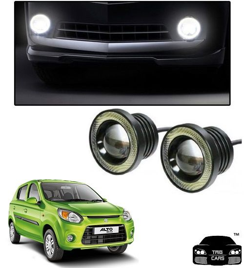 Buy Trigcars Maruti Suzuki Alto 800 T 2 Car High Power Fog Light With Angel Eye online