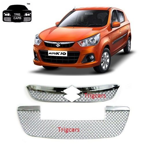 Buy Trigcars Maruti Suzuki Alto K10 Car Front Grill Chrome Plated