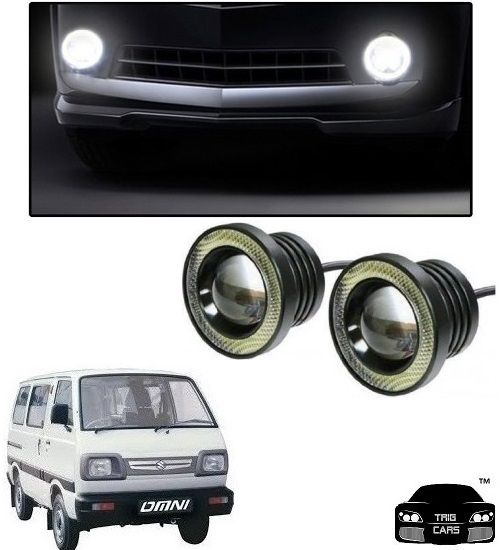 Buy Trigcars Maruti Suzuki Omni Car High Power Fog Light With Angel Eye online