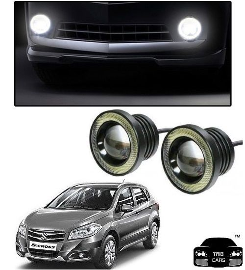 Buy Trigcars Maruti Suzuki S Cross Car High Power Fog Light With Angel Eye online