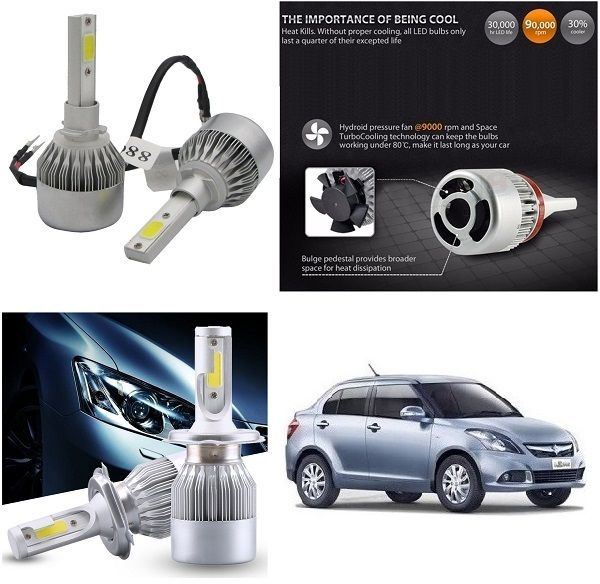 Buy Trigcars Maruti Suzuki Swift Dzire 2014-2016 Car LED Hid Head Light online