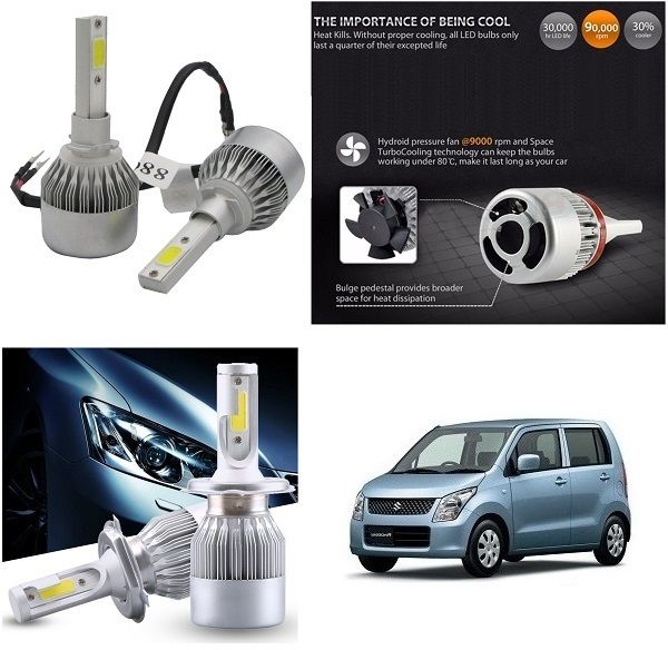 Buy Trigcars Maruti Suzuki Wagonr Old Car LED Hid Head Light online