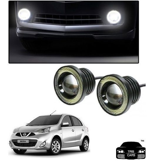 Buy Trigcars Nissan Micra Car High Power Fog Light With Angel Eye online