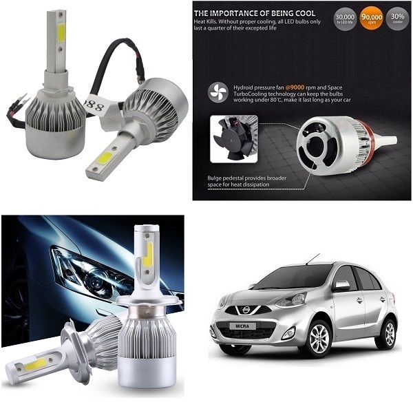 Buy Trigcars Nissan Micra Car LED Hid Head Light online