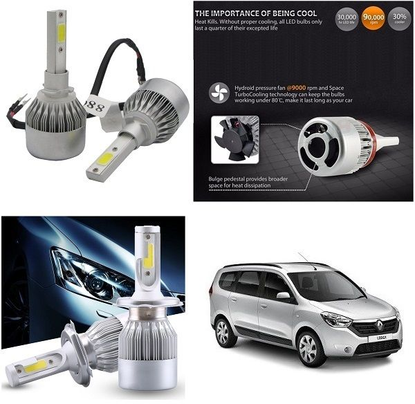Buy Trigcars Renault Lodgy Car LED Hid Head Light online
